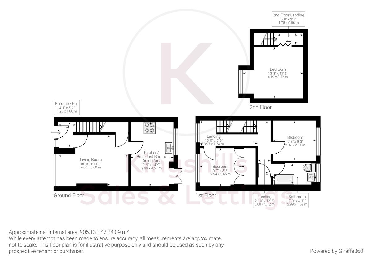 3 bed house for sale in Brackley Road, Hazlemere, High Wycombe - Property Floorplan