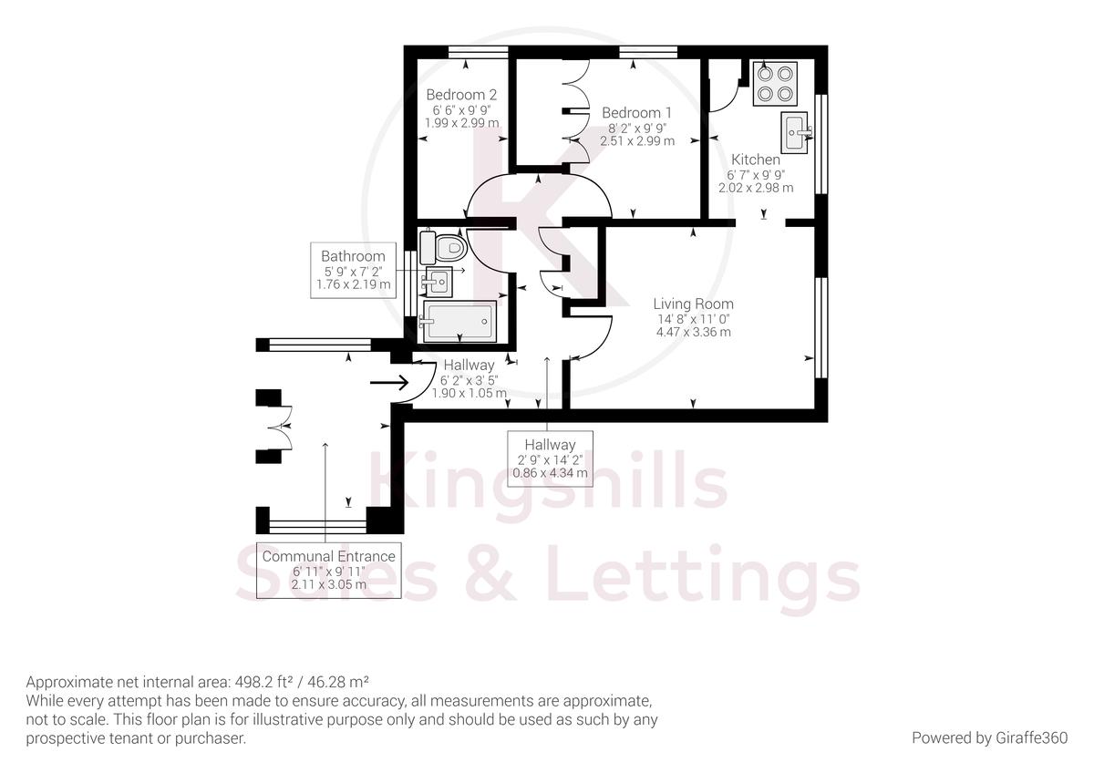 2 bed flat for sale in Broddick House, Brambleside - Property Floorplan