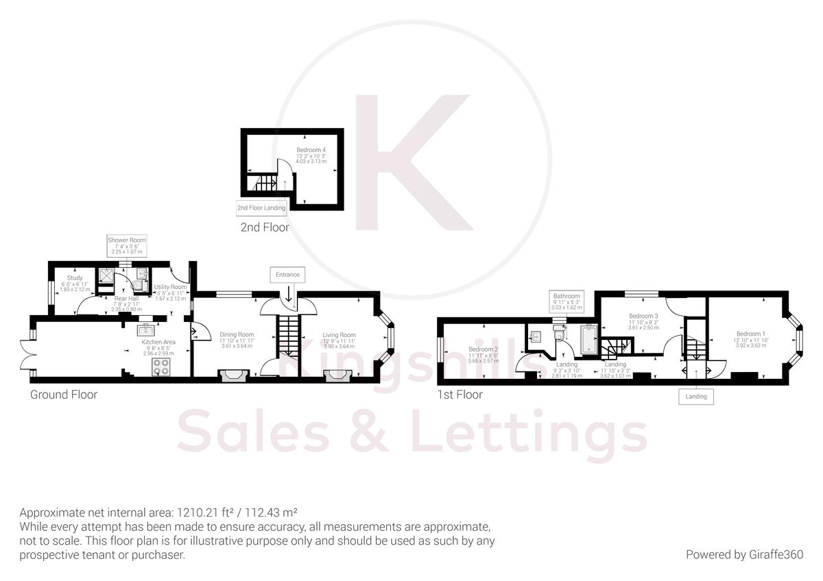 4 bed house for sale in The Common, Downley - Property Floorplan