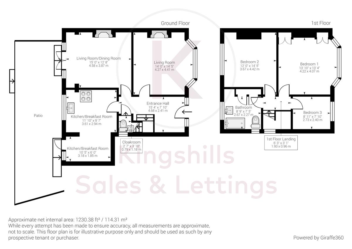 3 bed house for sale in The Queensway, Gerrards Cross - Property Floorplan