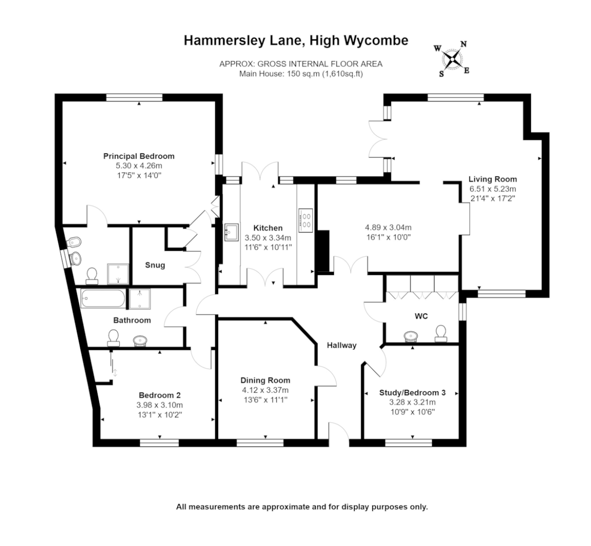4 bed house for sale in Hammersley Lane, High Wycombe - Property Floorplan