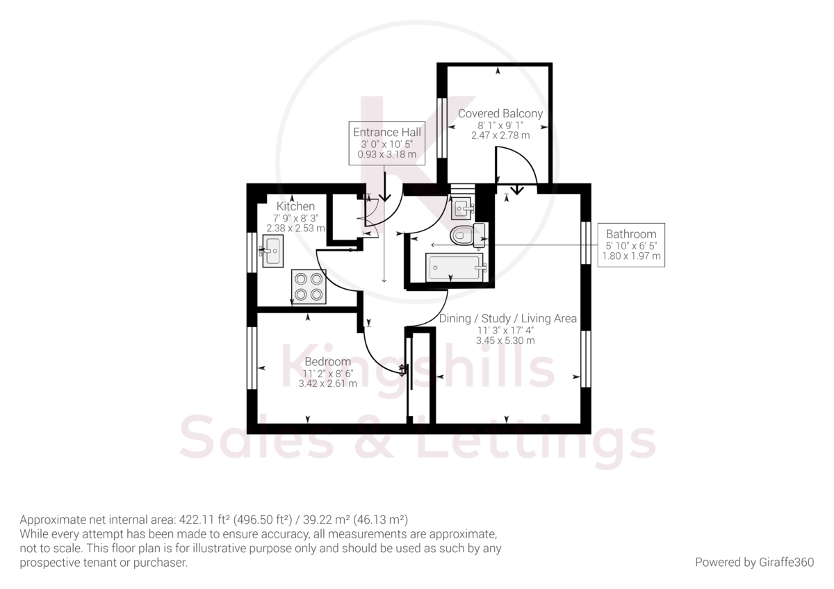 1 bed flat for sale in Dolphin Court, High Wycombe - Property Floorplan
