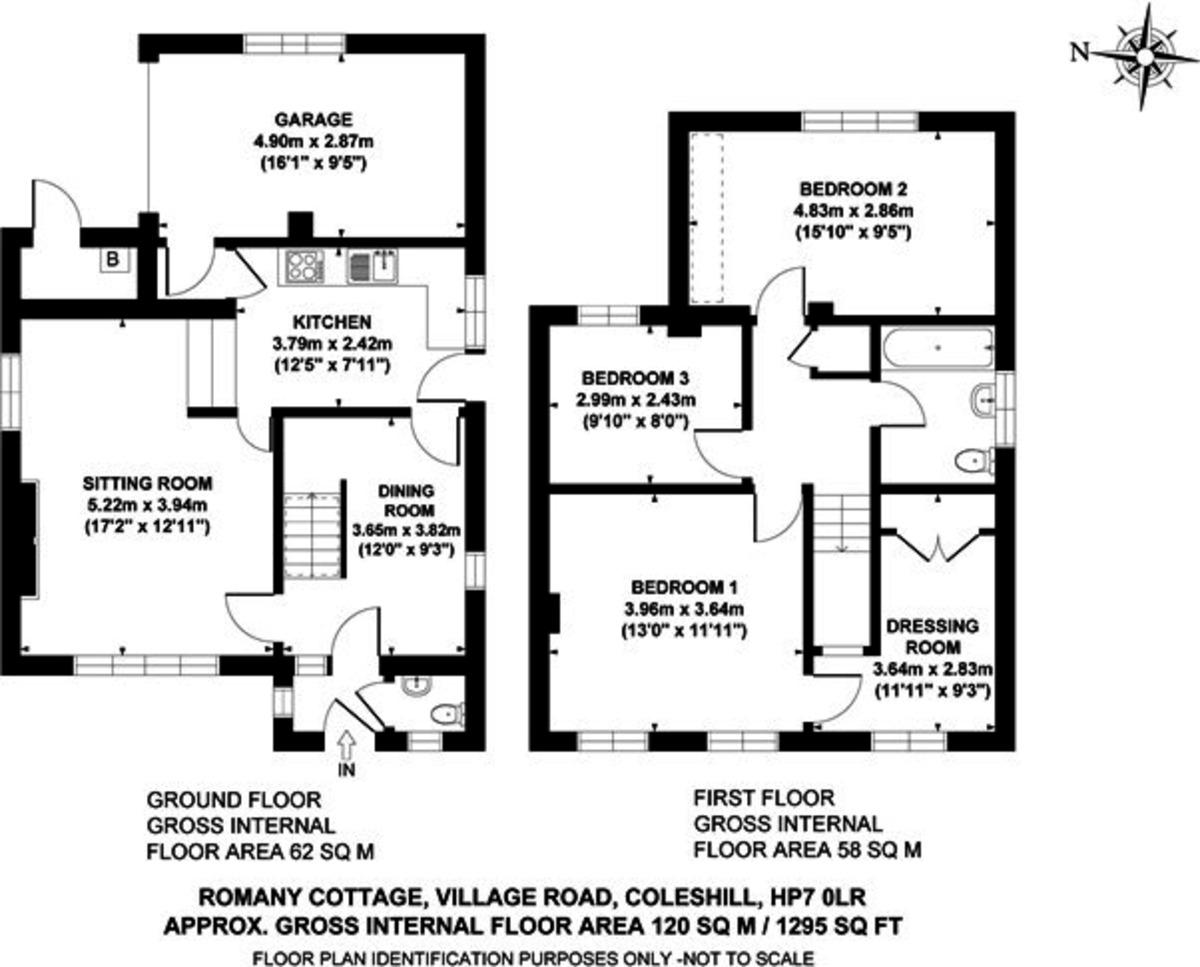 3 bed house for sale in Village Road, Coleshill, Amersham - Property Floorplan