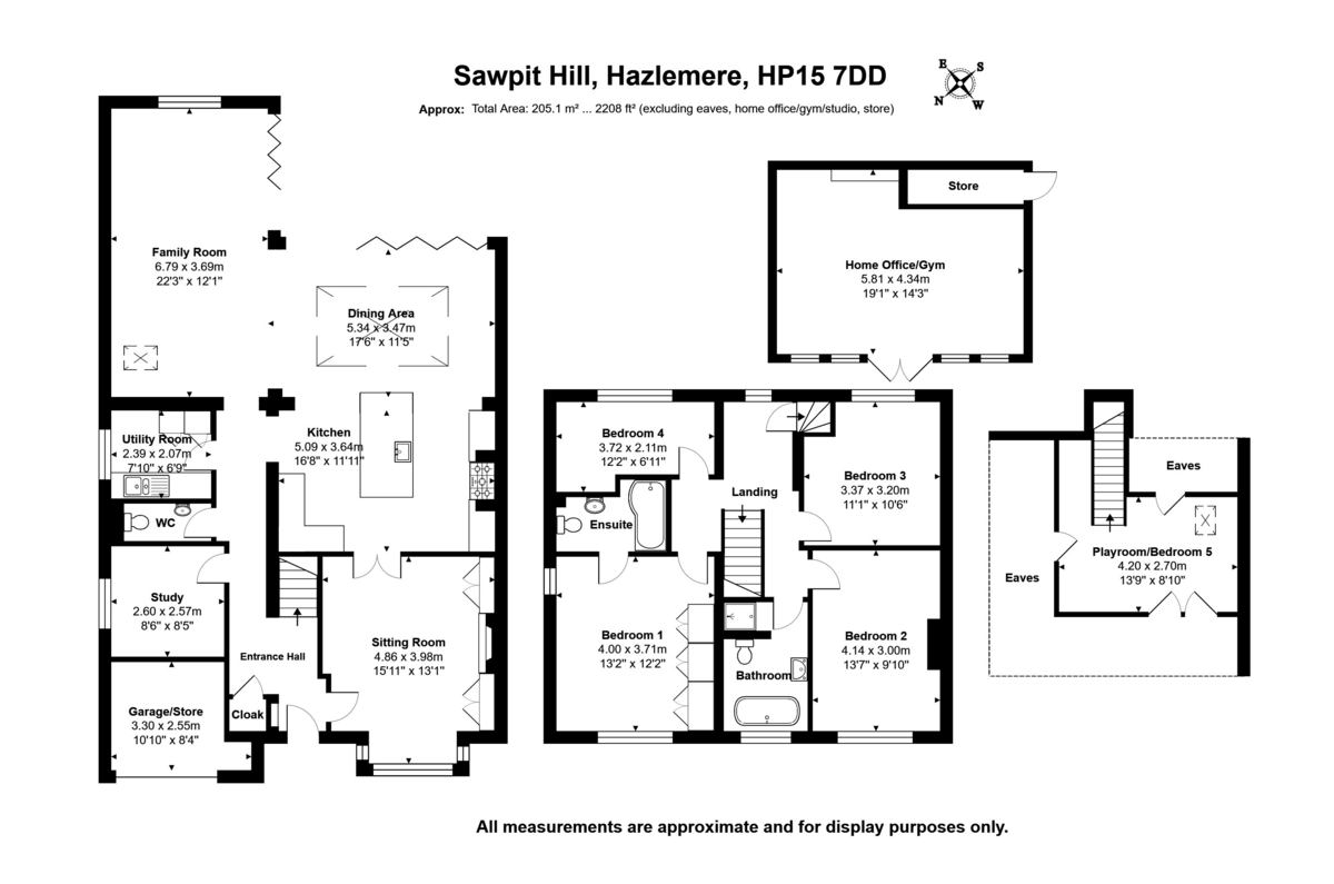 5 bed house for sale in Sawpit Hill, Hazlemere - Property Floorplan