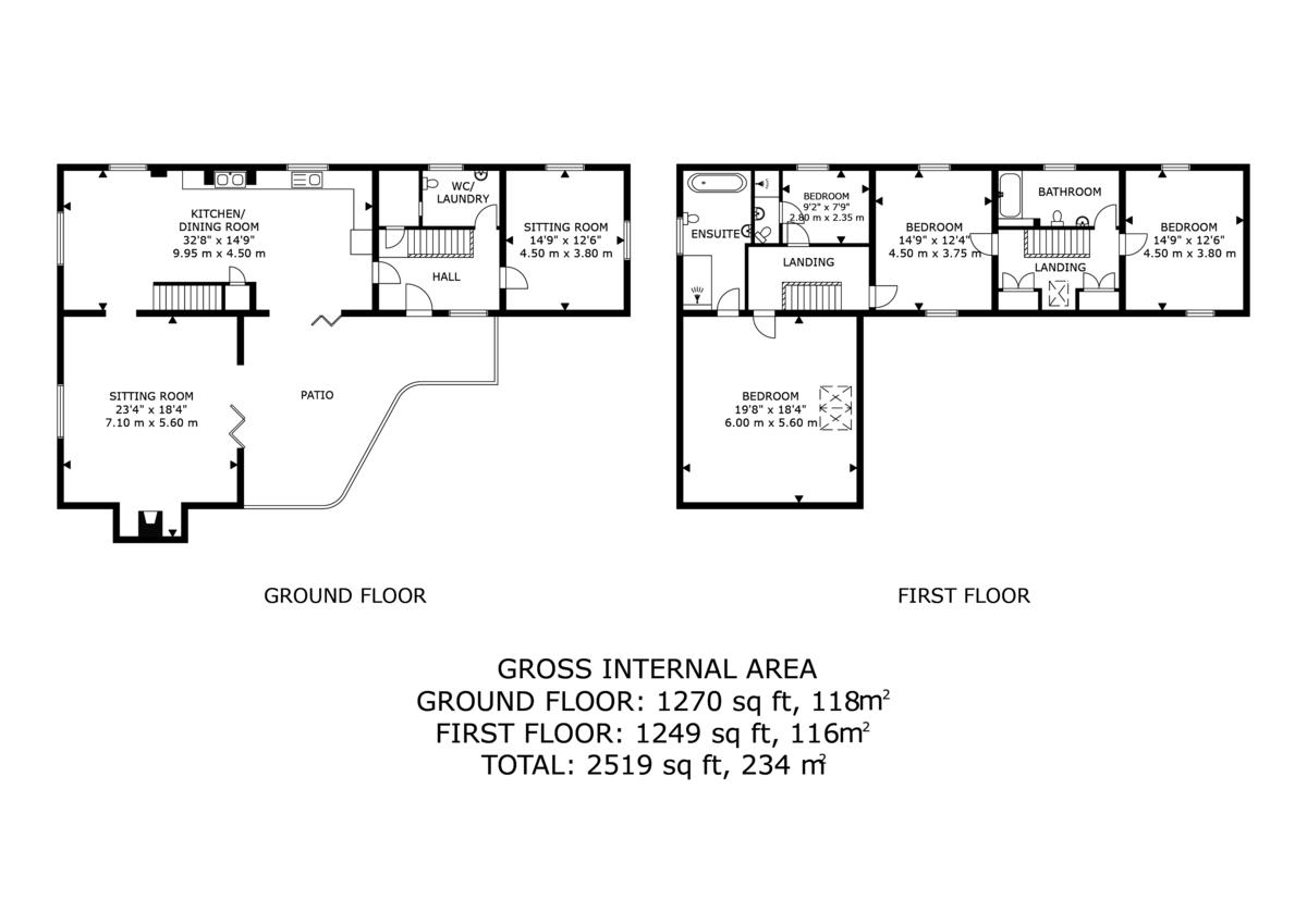 4 bed  for sale in Edge, Malpas - Property Floorplan