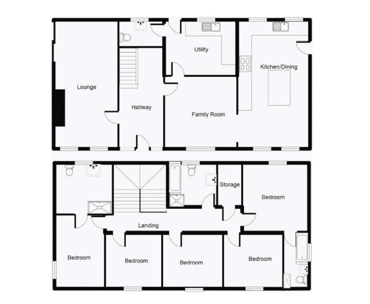 5 bed  for sale in Rhuallt, St. Asaph - Property Floorplan