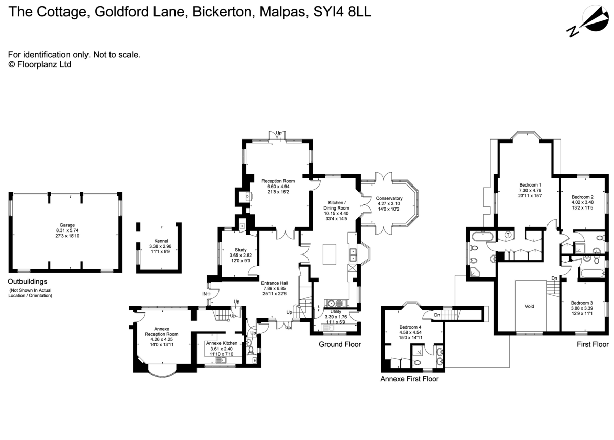 4 bed house for sale in Goldford Lane, Bickerton - Property Floorplan