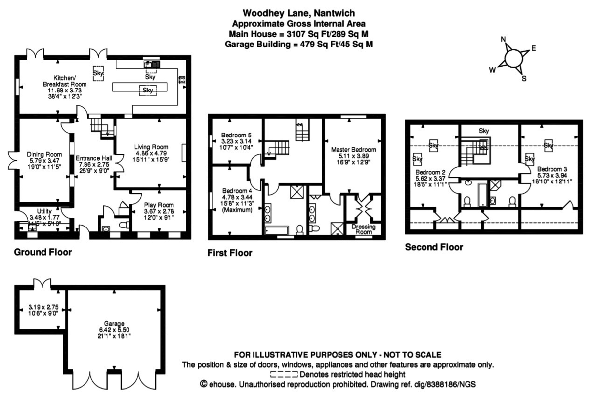 5 bed house for sale in Woodhey Lane, Faddiley - Property Floorplan