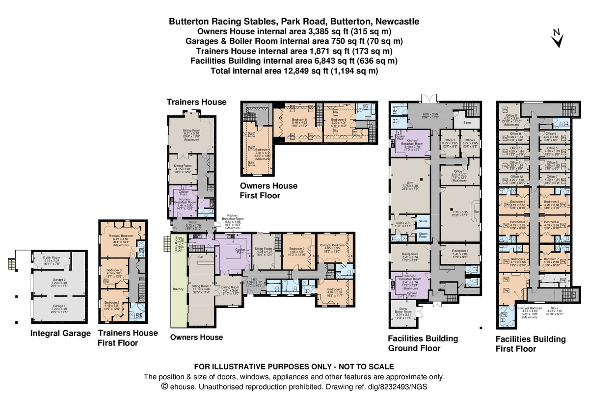 16 bed  for sale in Butterton Racing Stables, Newcastle Under Lyme - Property Floorplan