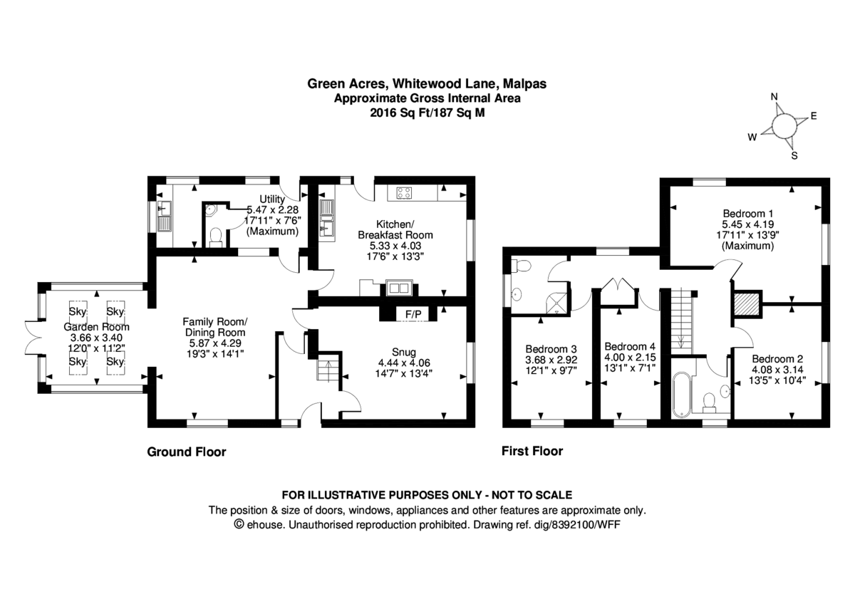 4 bed  for sale in Tilston, Malpas - Property Floorplan