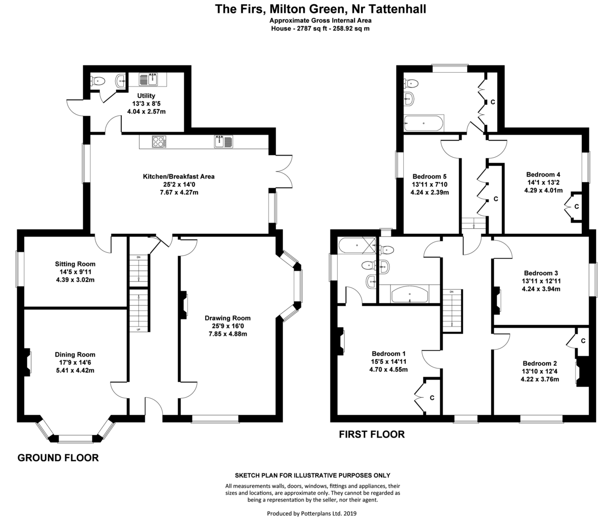 5 bed  for sale in Frog Lane, Tattenhall - Property Floorplan