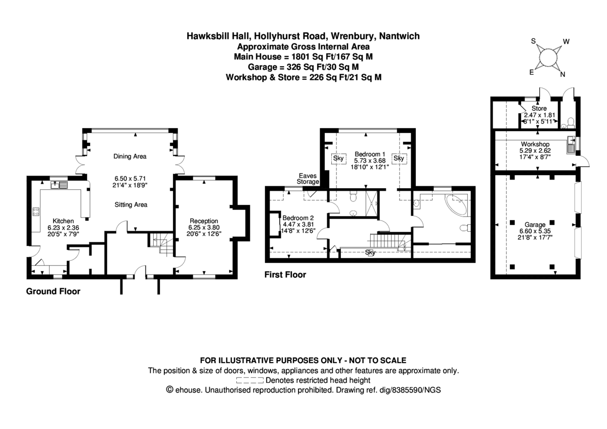 2 bed house for sale in Hawksbill Hall - Property Floorplan