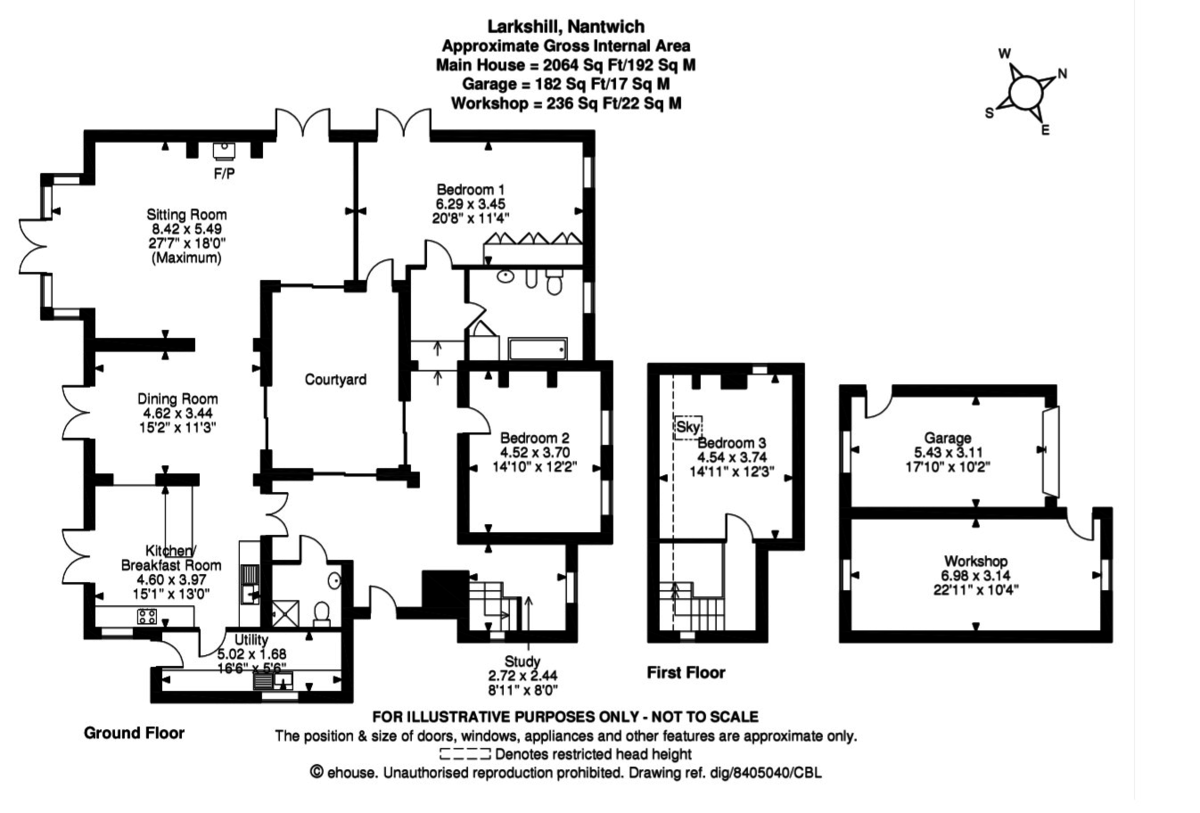3 bed house for sale in Chorley, Nantwich - Property Floorplan
