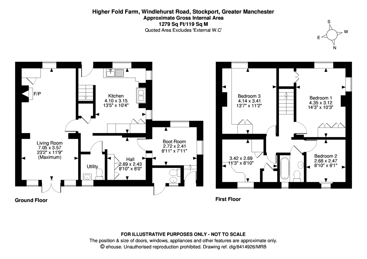 4 bed  for sale - Property Floorplan
