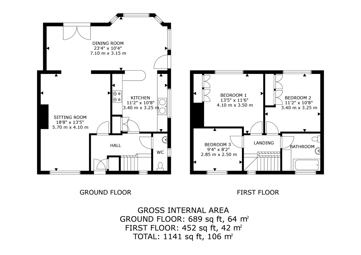 3 bed  for sale in Whitegate, Cheshire - Property Floorplan