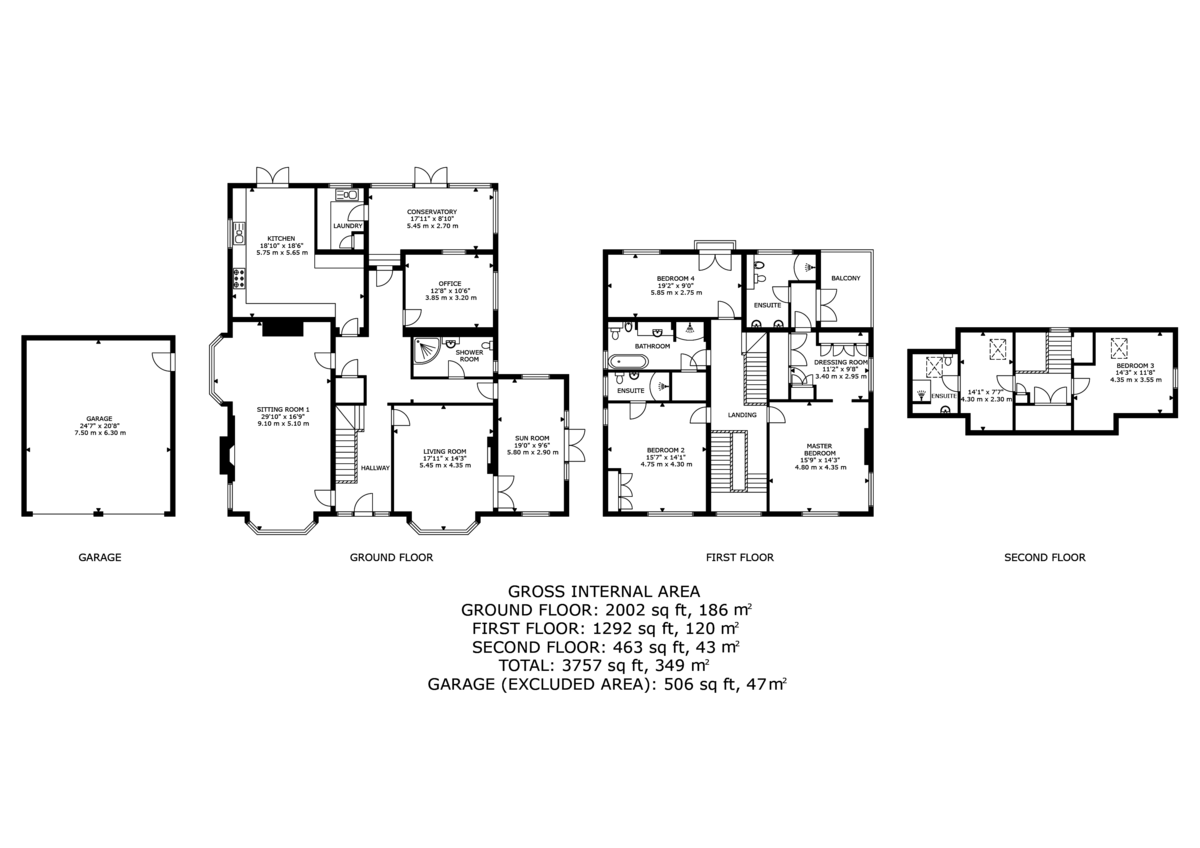5 bed  for sale in Malpas, Cheshire - Property Floorplan