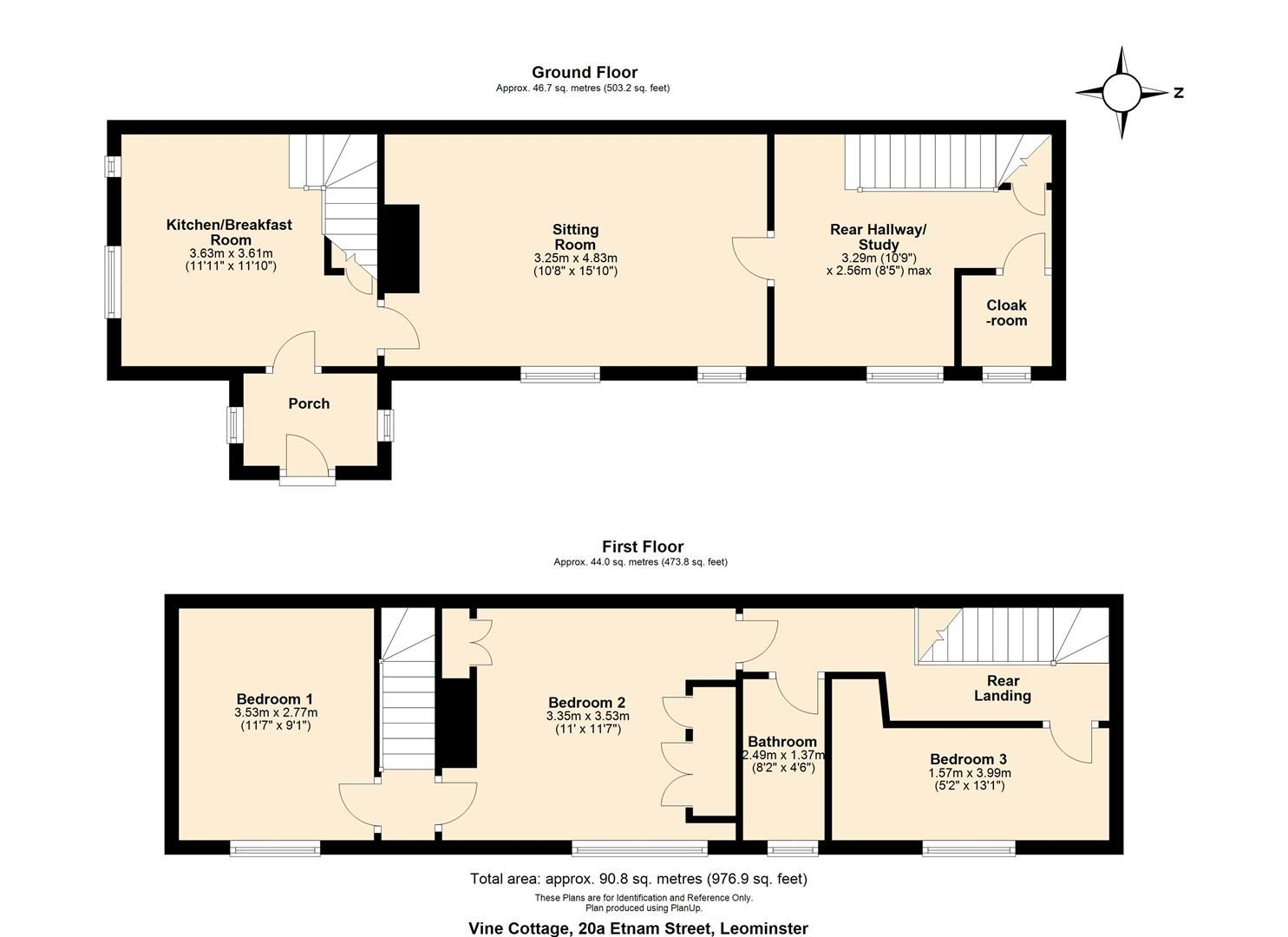 3 bed cottage for sale in Leominster - Property Floorplan
