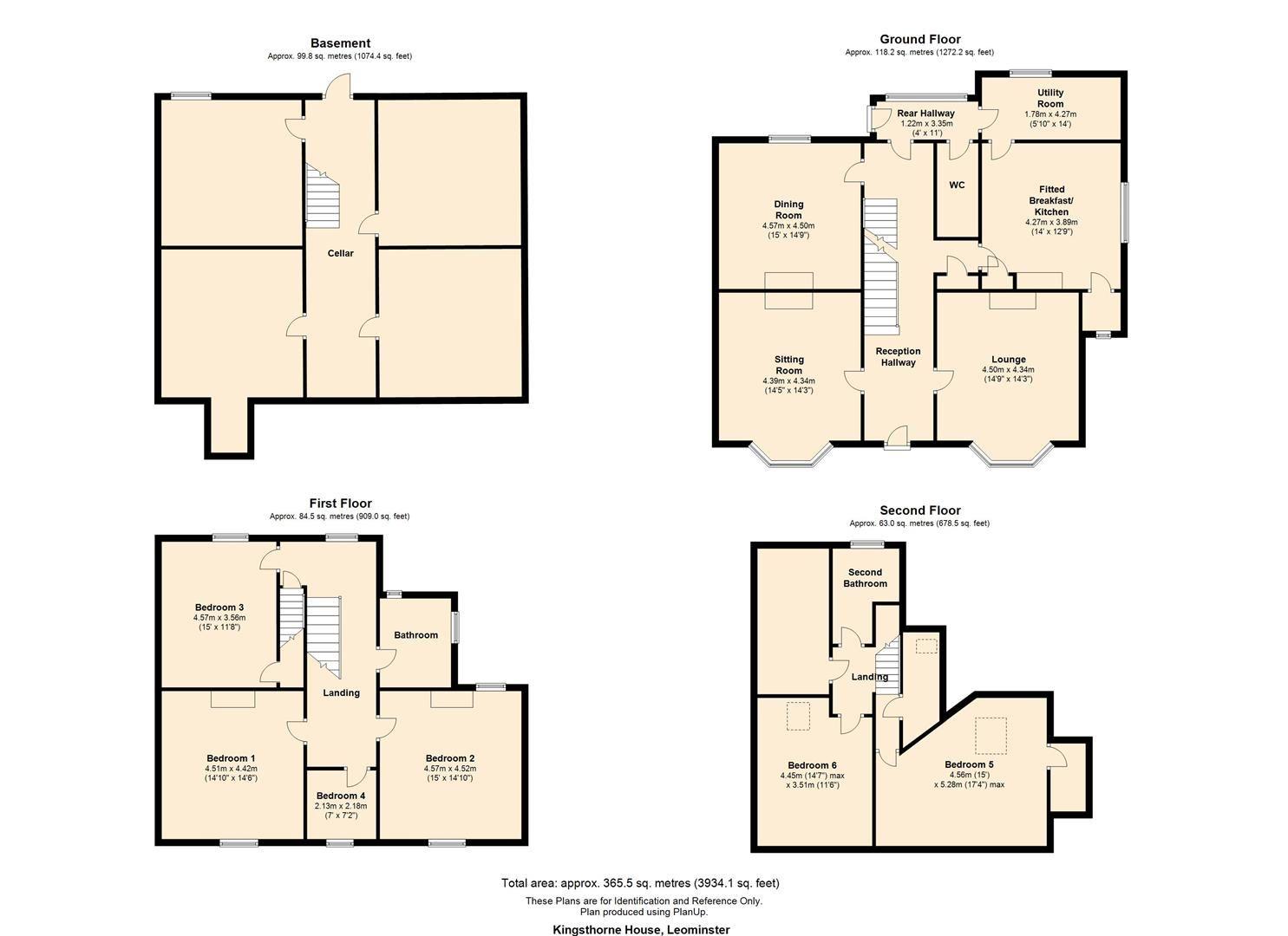 6 bed semi-detached for sale in Leominster - Property Floorplan