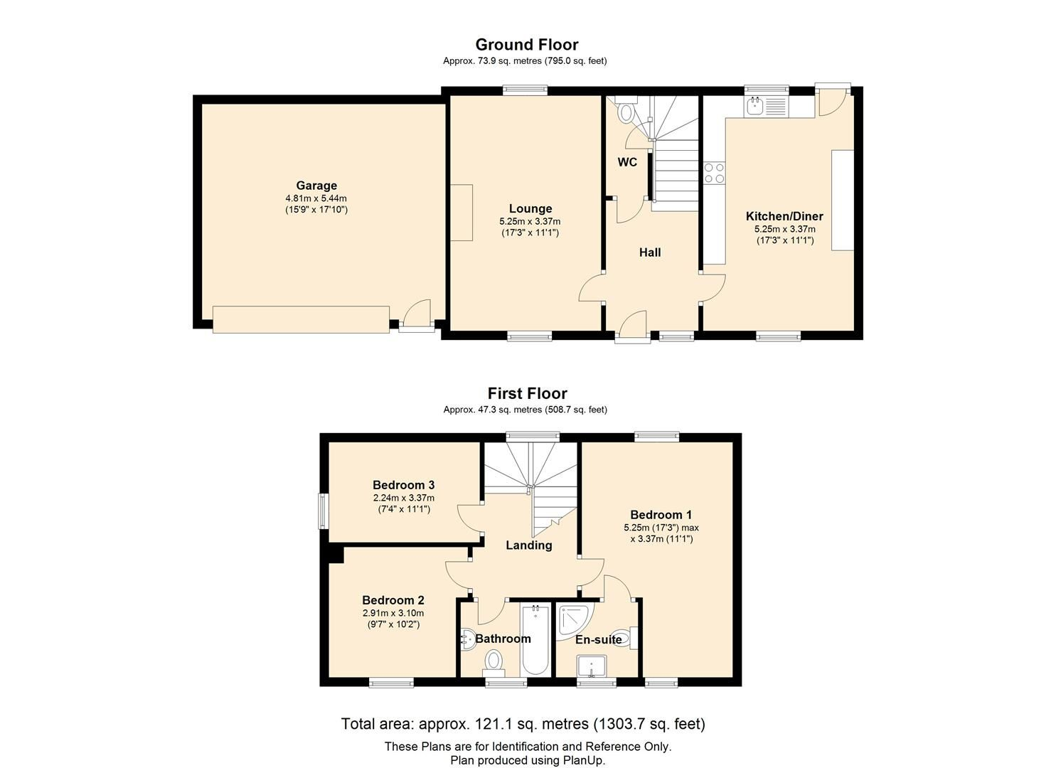 3 bed semi-detached for sale in Staunton-On-Wye - Property Floorplan