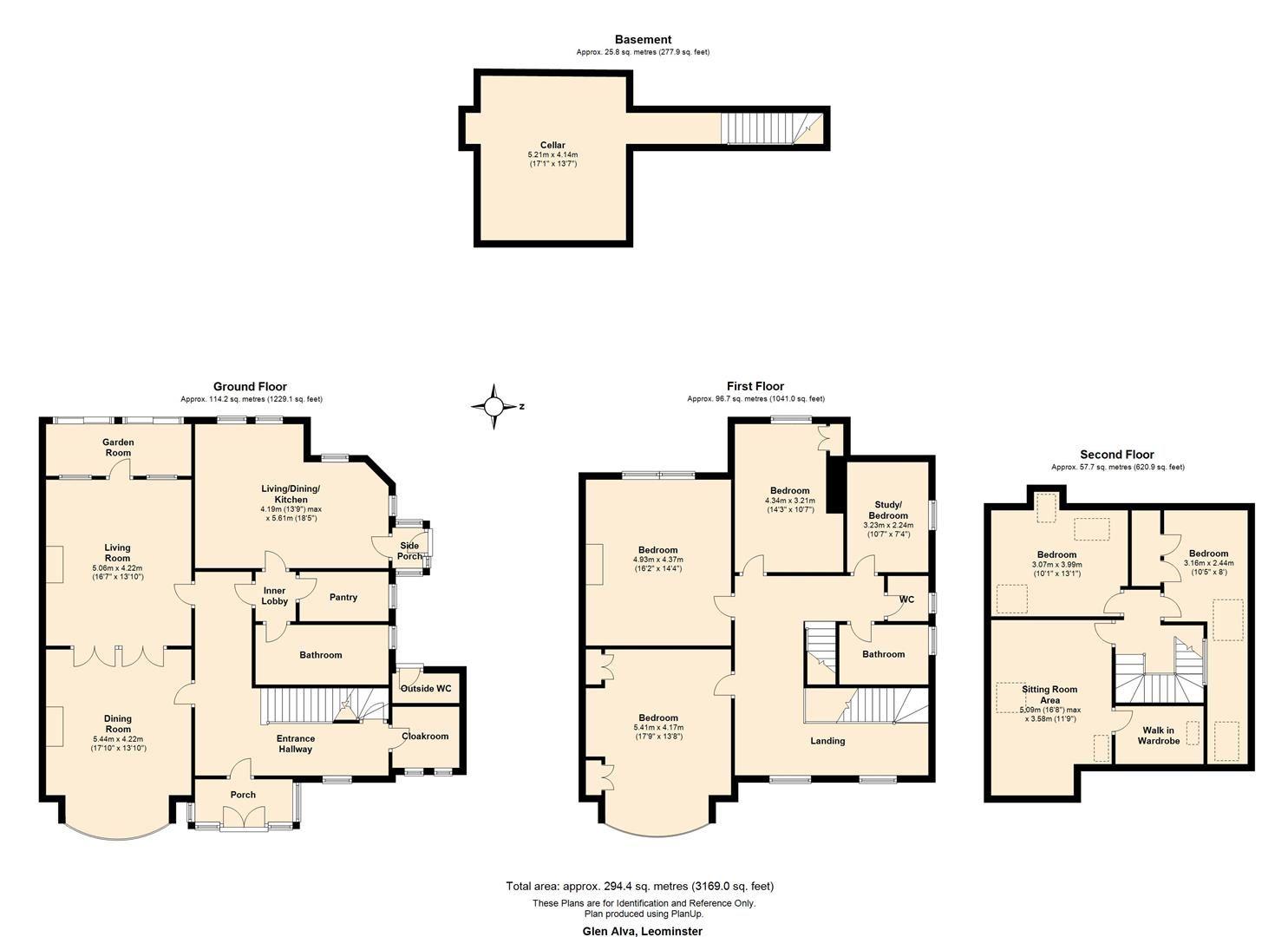 6 bed detached for sale in Leominster - Property Floorplan