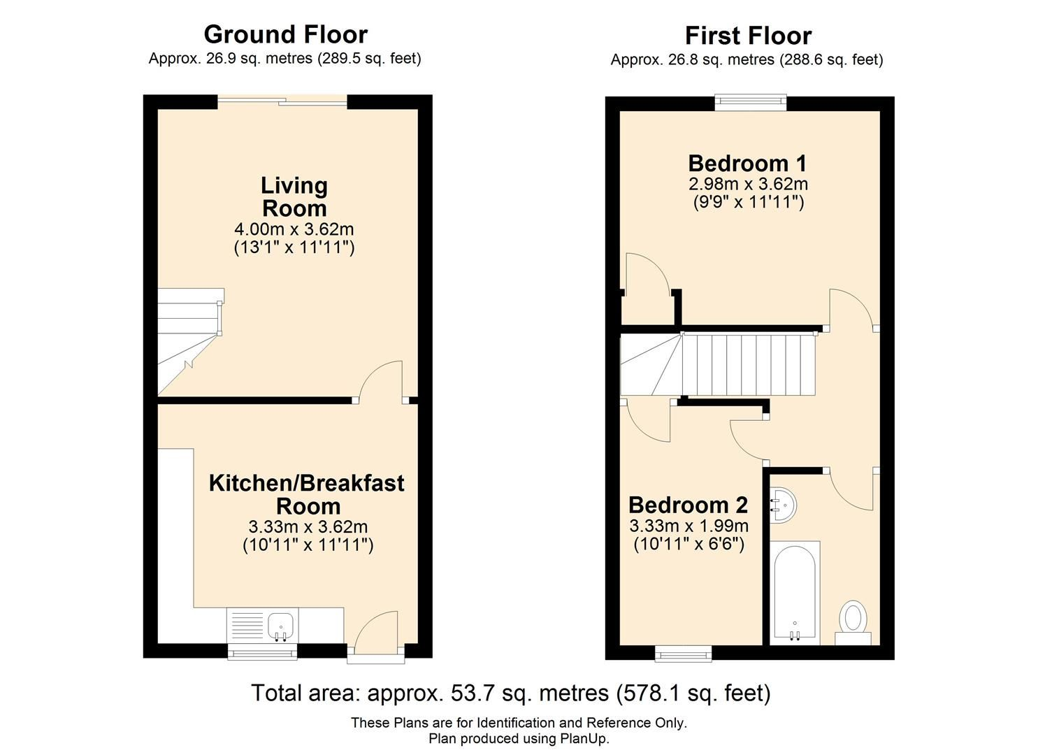 2 bed terraced for sale in Lower Bullingham - Property Floorplan