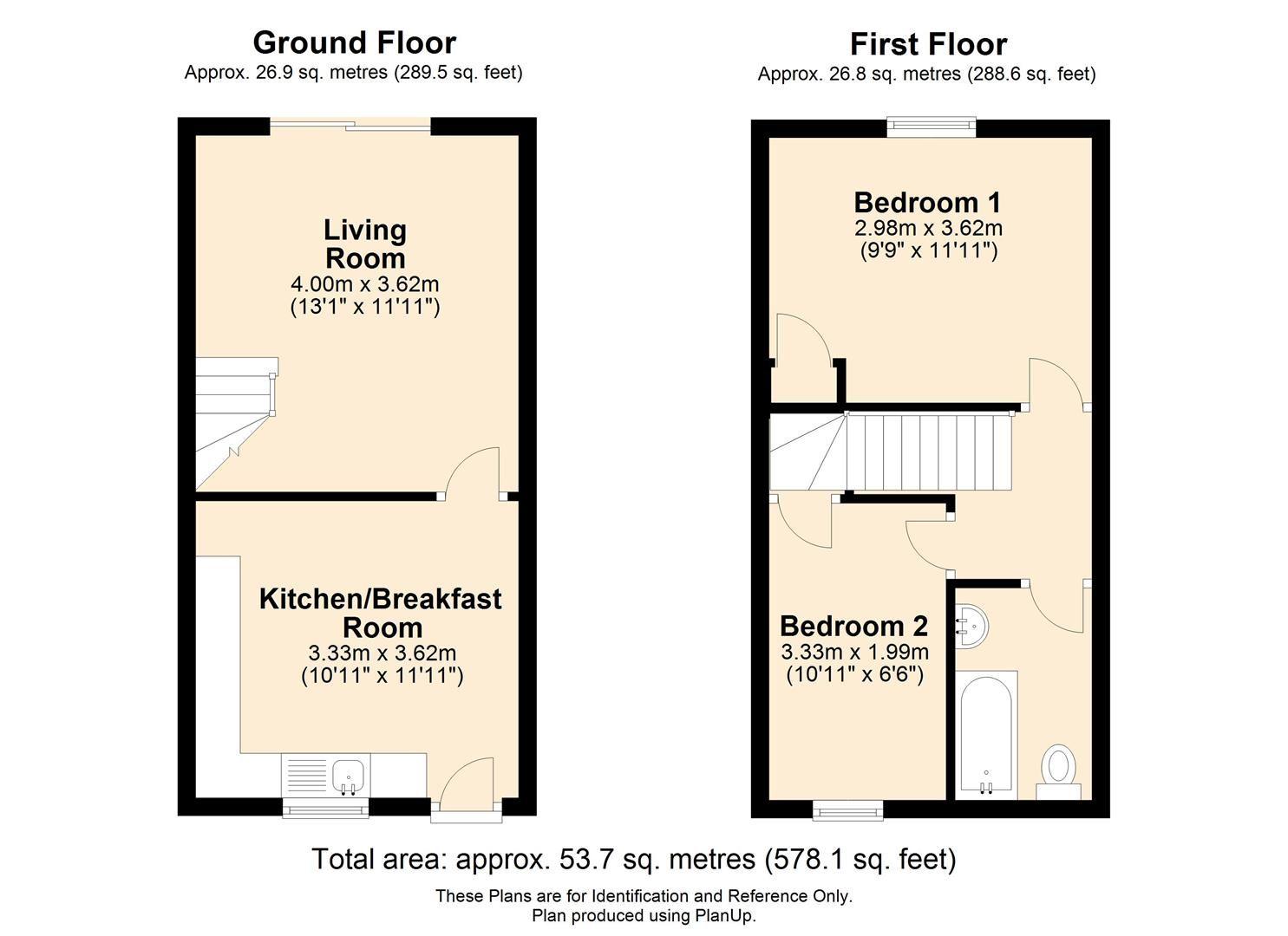 2 bed terraced for sale in Lower Bullingham - Property Floorplan