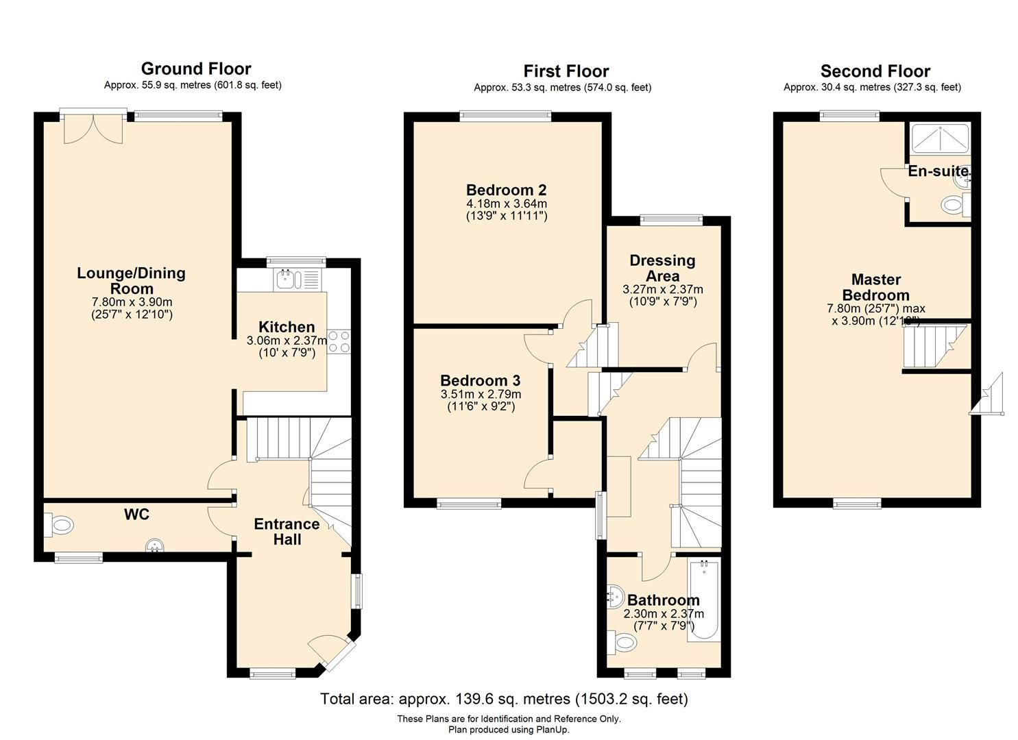 3 bed terraced for sale in Bartestree - Property Floorplan