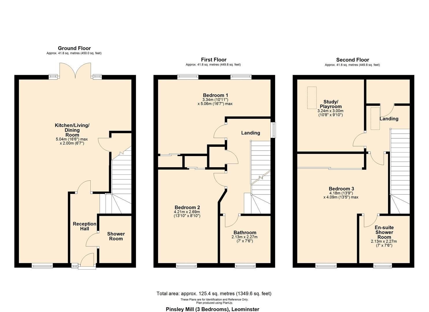 3 bed end-of-terrace for sale in Leominster - Property Floorplan