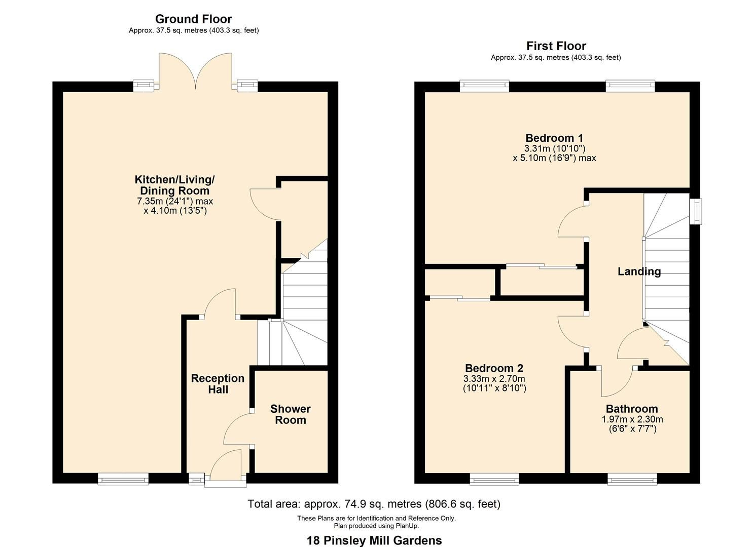 2 bed terraced for sale in Leominster - Property Floorplan