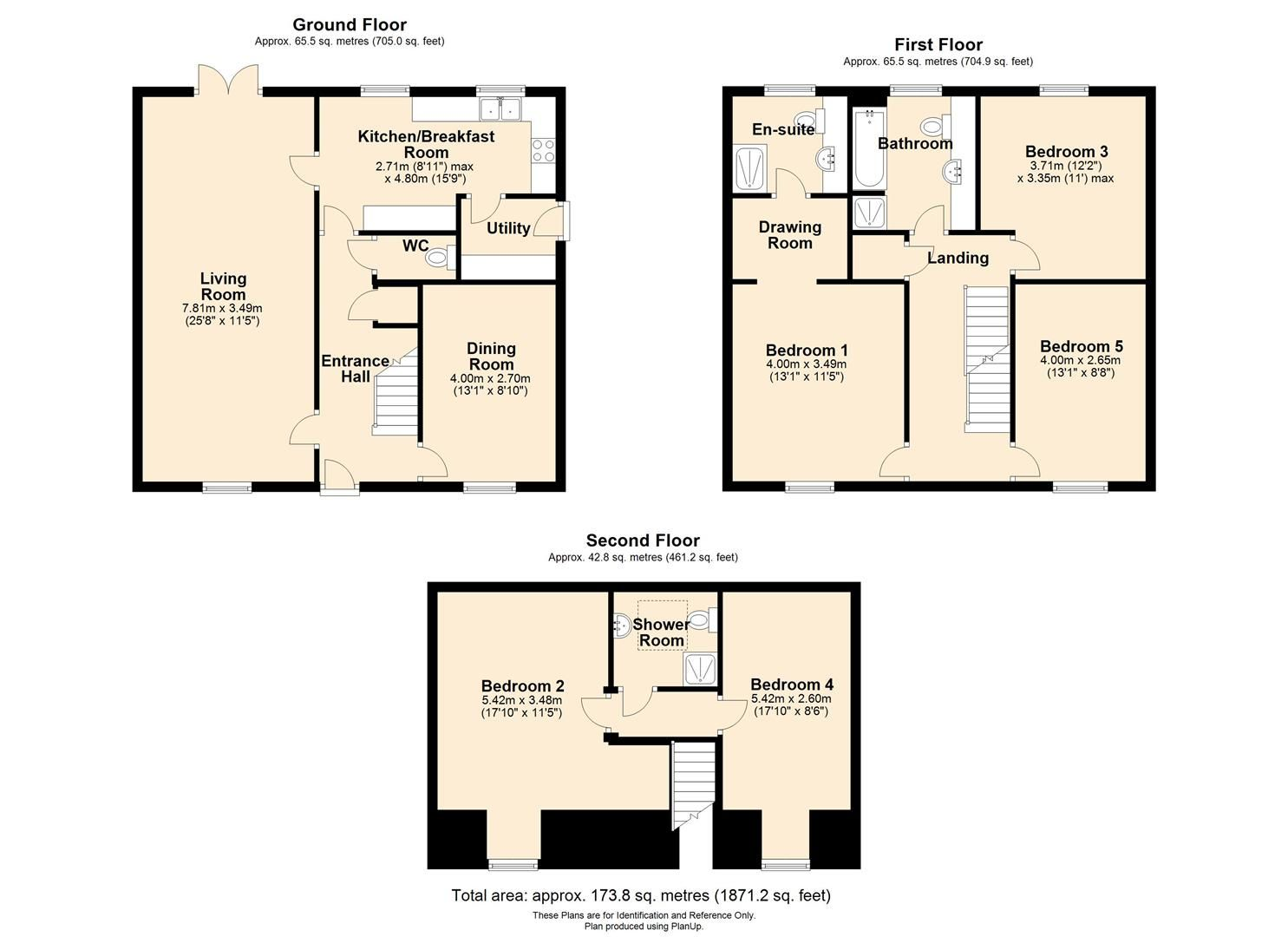 5 bed detached for sale in Kingstone - Property Floorplan