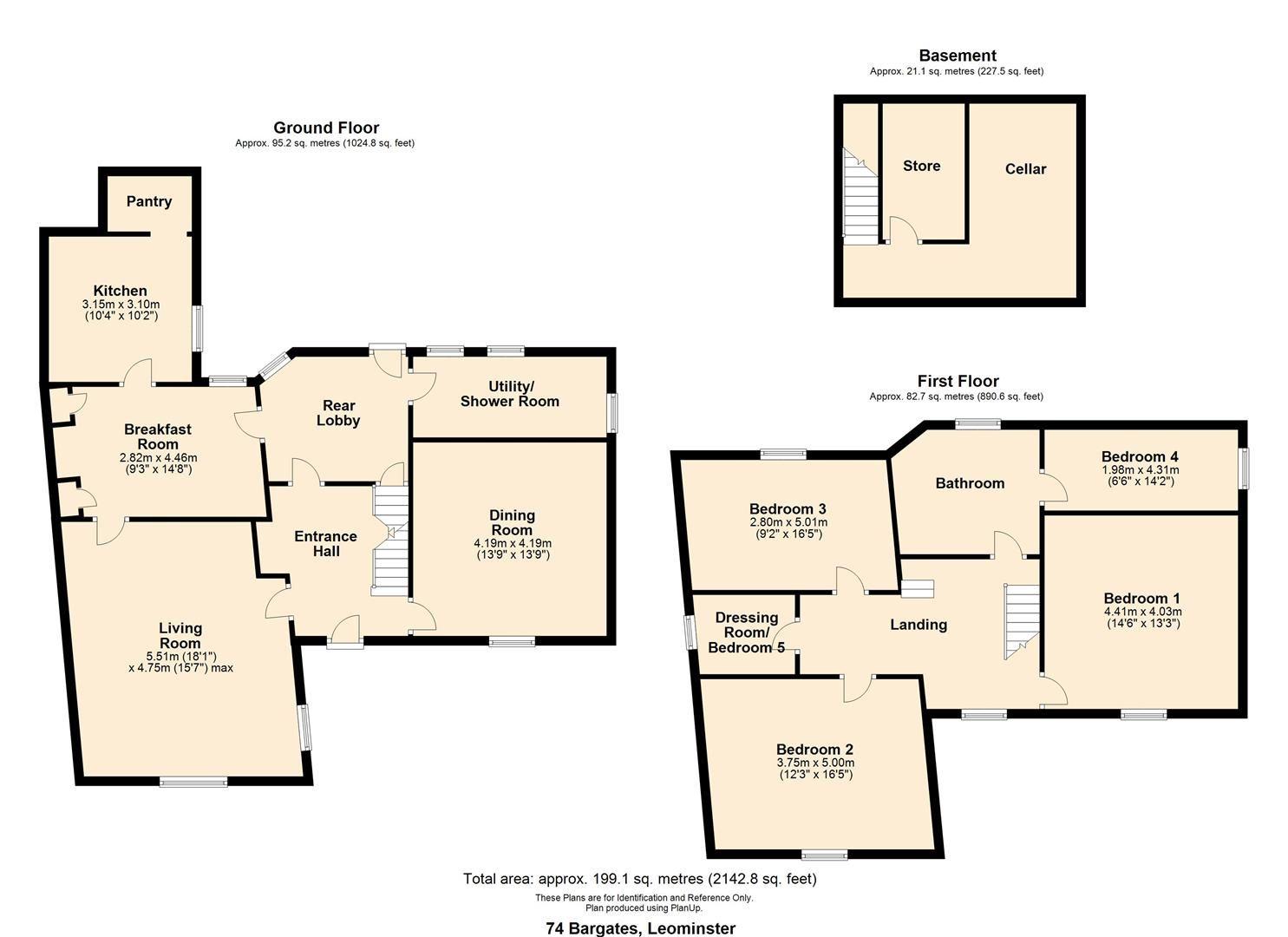 5 bed detached for sale in Leominster - Property Floorplan