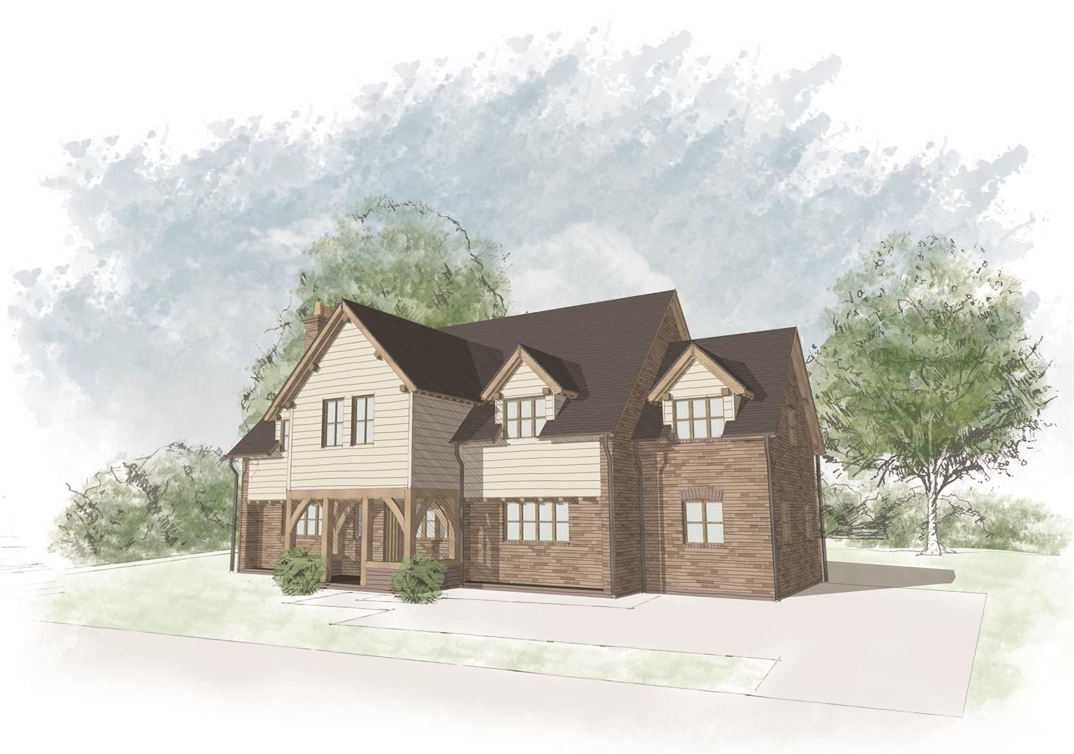 4 bed plot for sale in Lyonshall 1