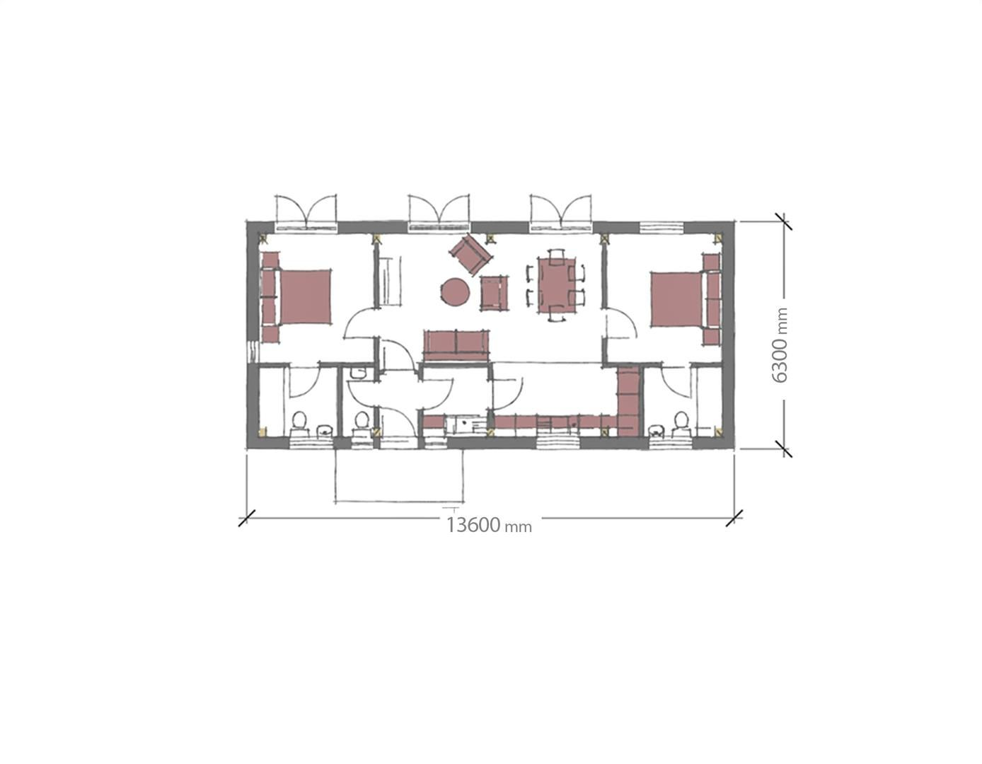 2 bed plot for sale in Lyonshall - Property Floorplan