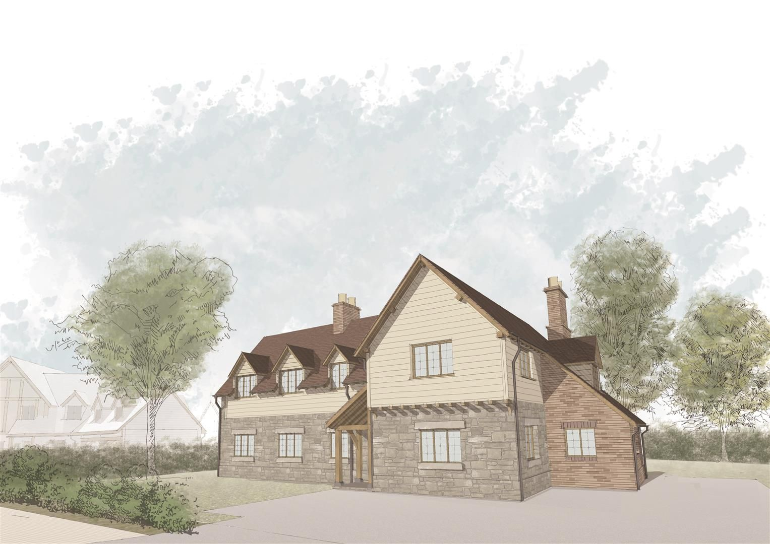4 bed plot for sale in Lyonshall  - Property Image 1
