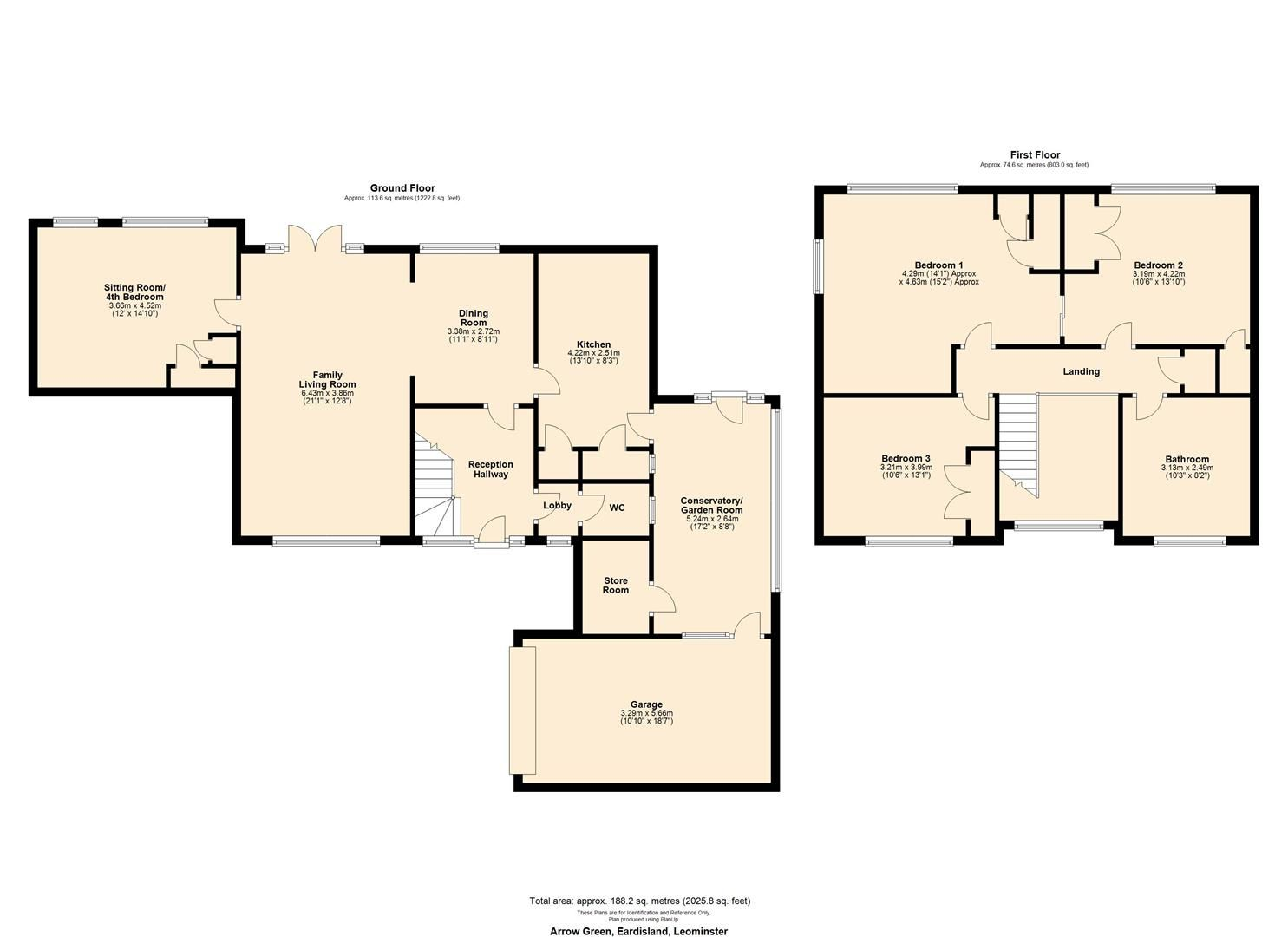 3 bed detached for sale in Eardisland - Property Floorplan