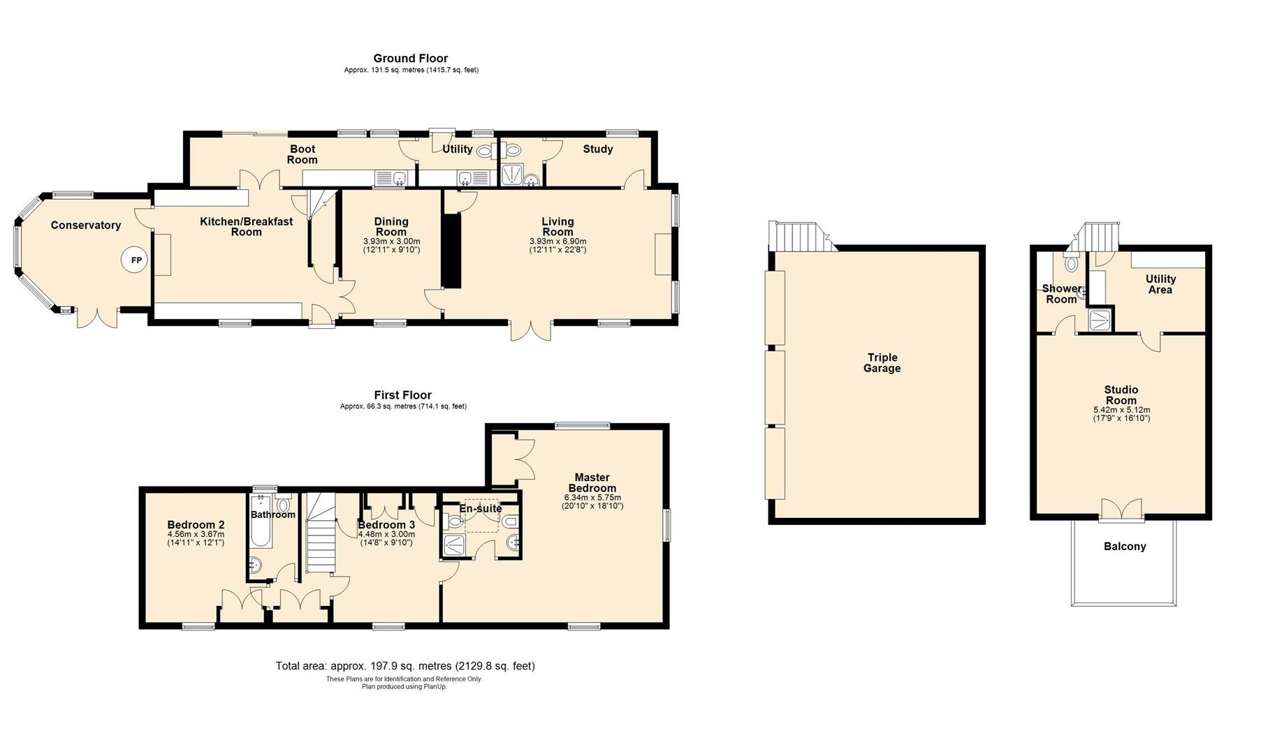 3 bed detached for sale in Cwmdu - Property Floorplan