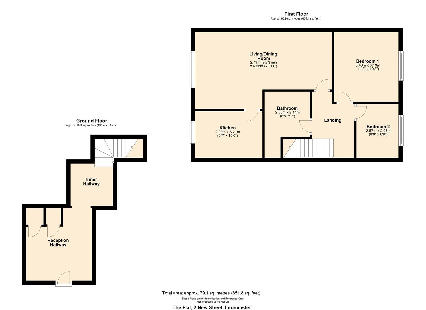 2 bed maisonette to rent in Leominster - Property Floorplan