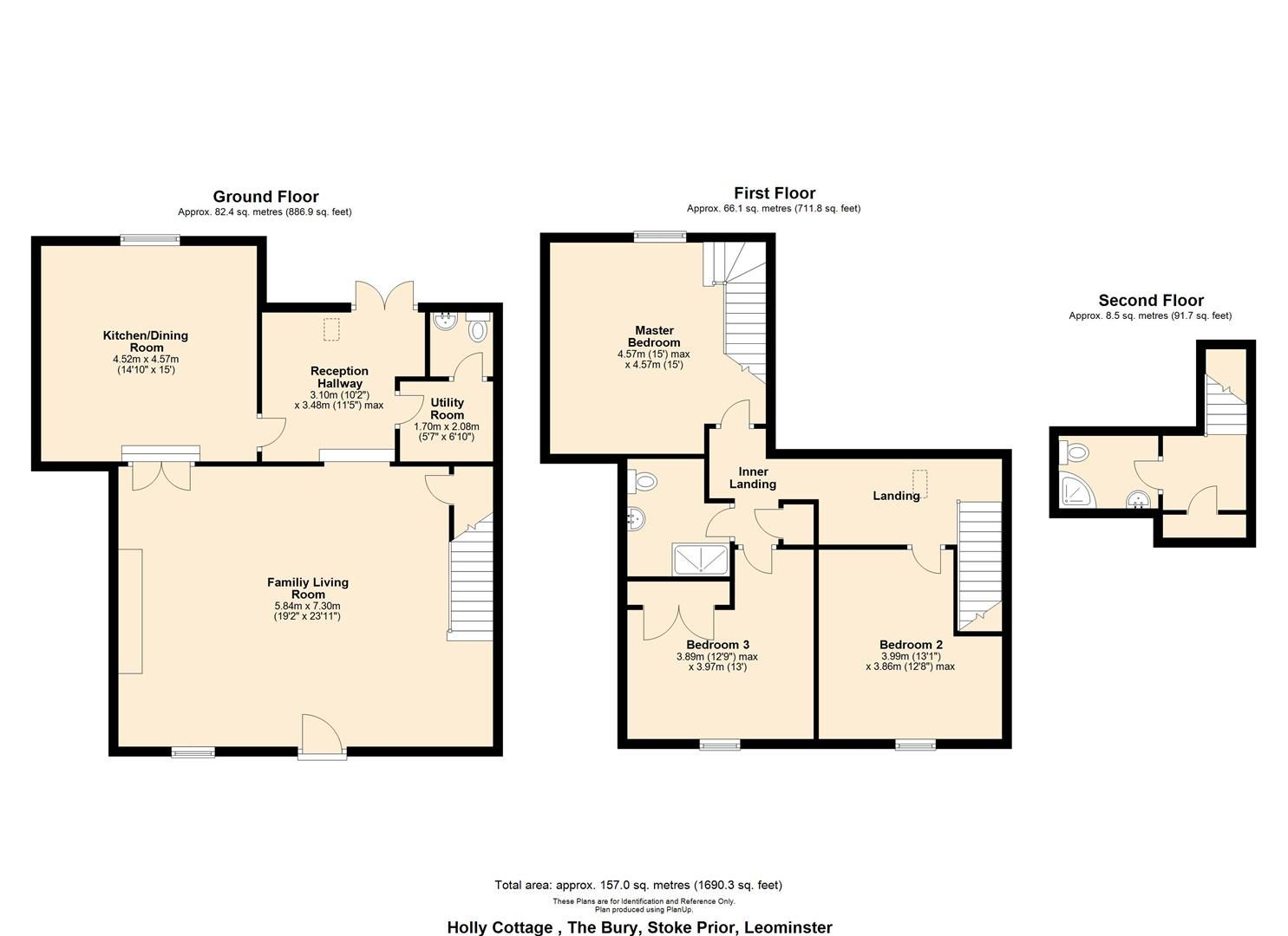 3 bed barn-conversion for sale in Stoke Prior - Property Floorplan