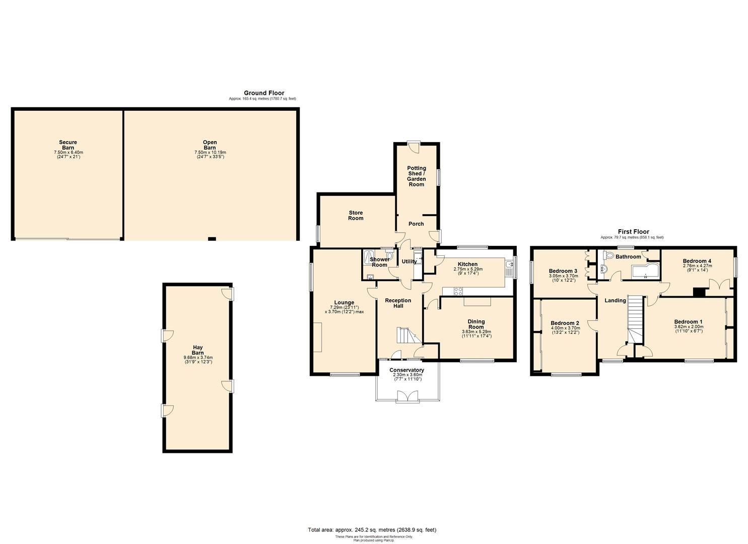 4 bed detached for sale in Tillington - Property Floorplan