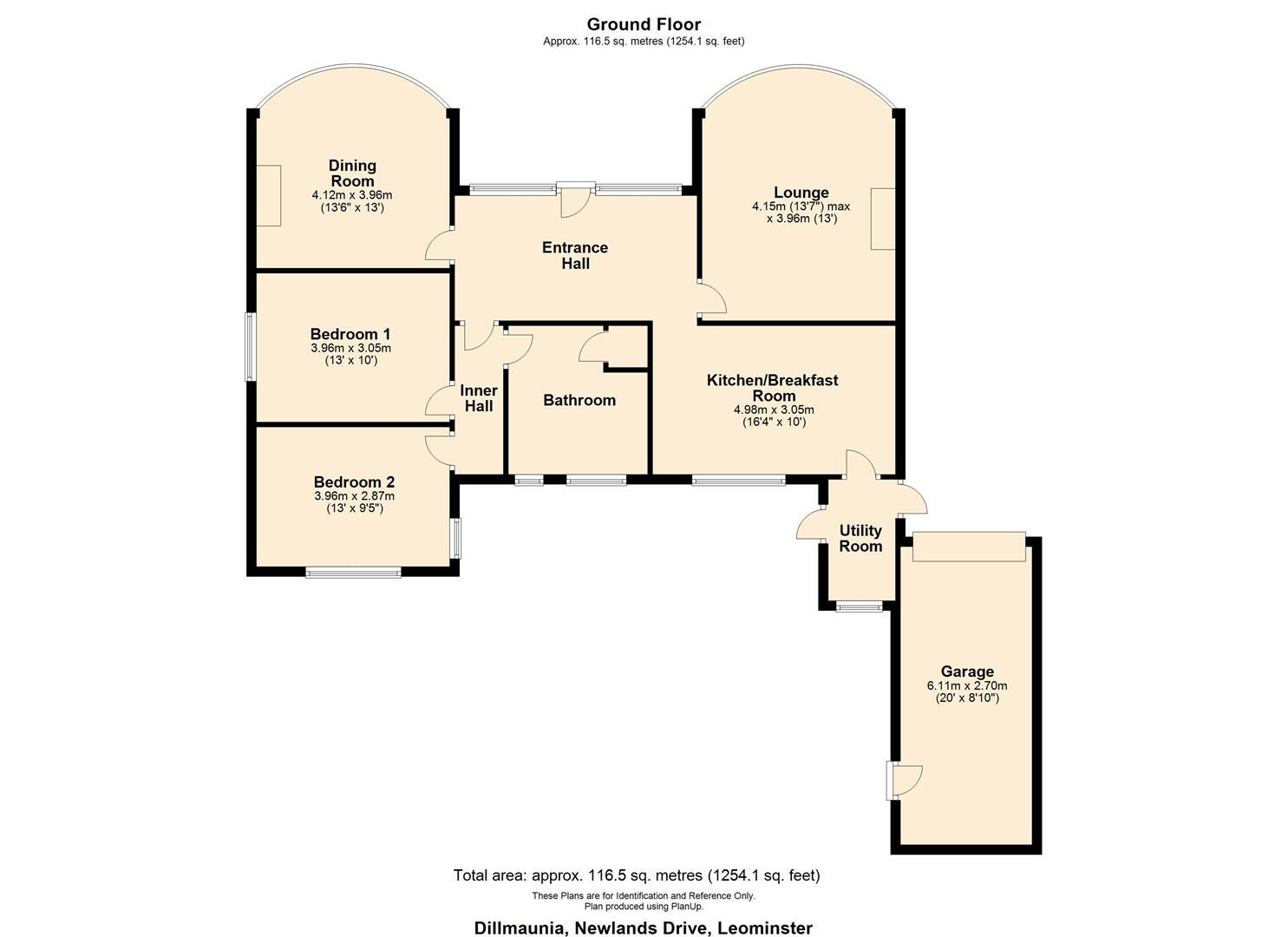 2 bed detached-bungalow for sale in Leominster - Property Floorplan