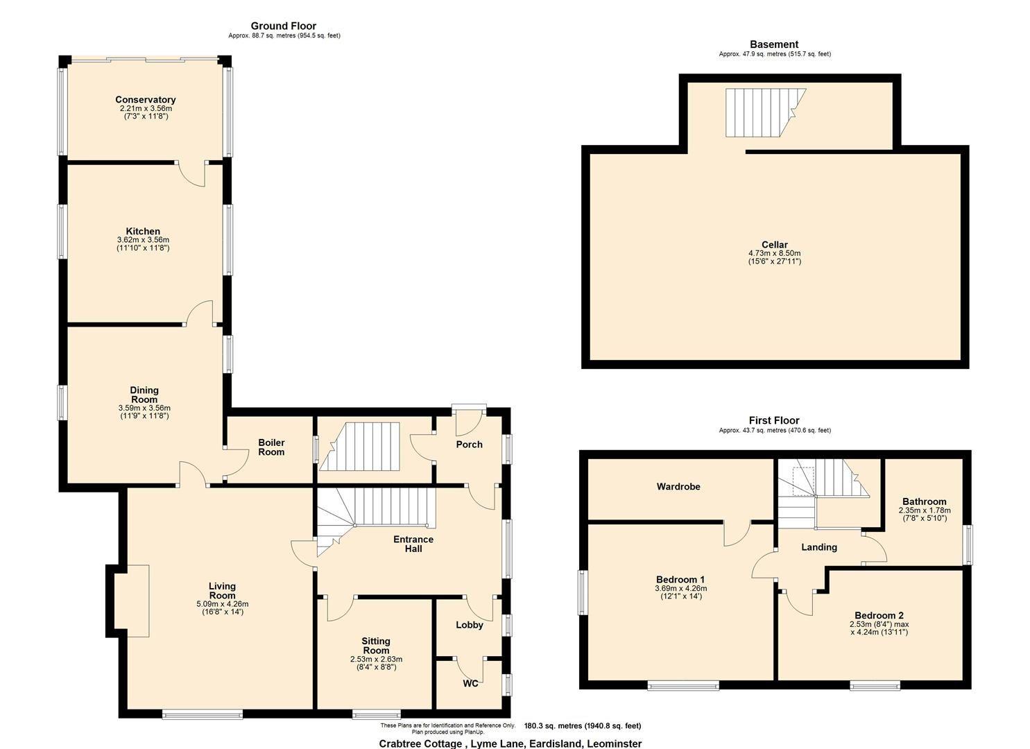 3 bed cottage for sale in Eardisland - Property Floorplan