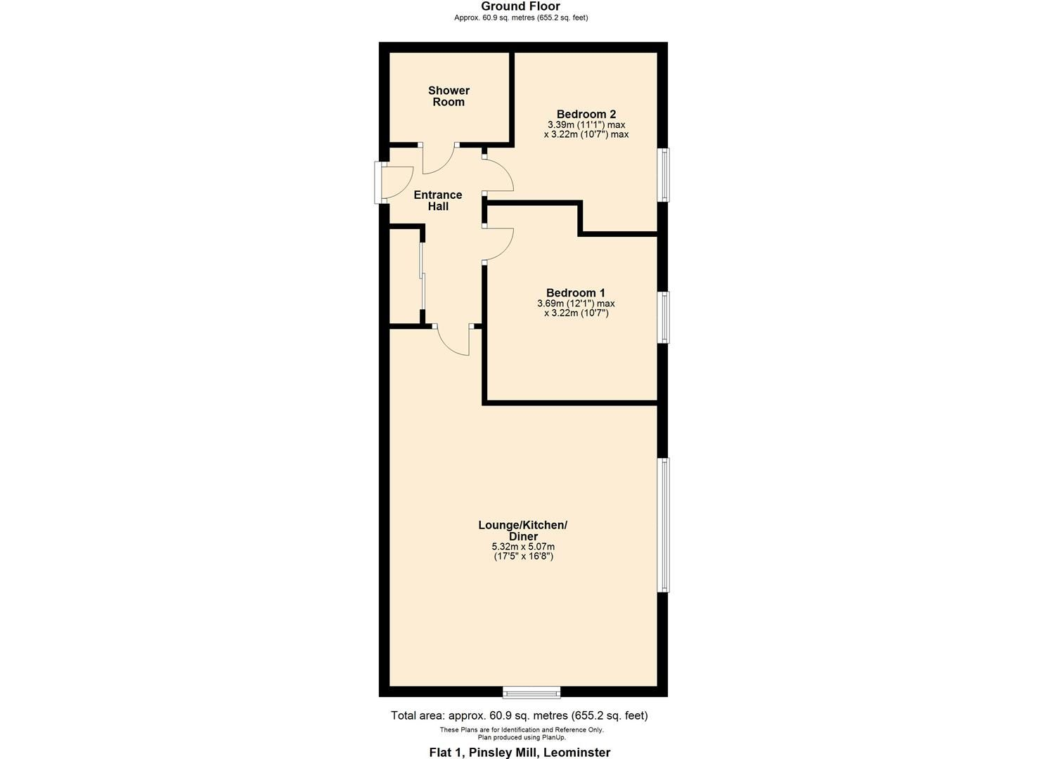 2 bed apartment for sale in Leominster - Property Floorplan