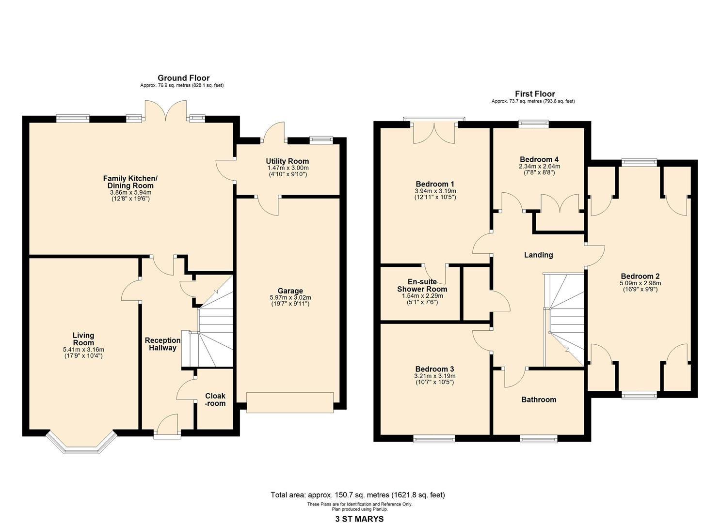4 bed detached for sale in Kingsland - Property Floorplan