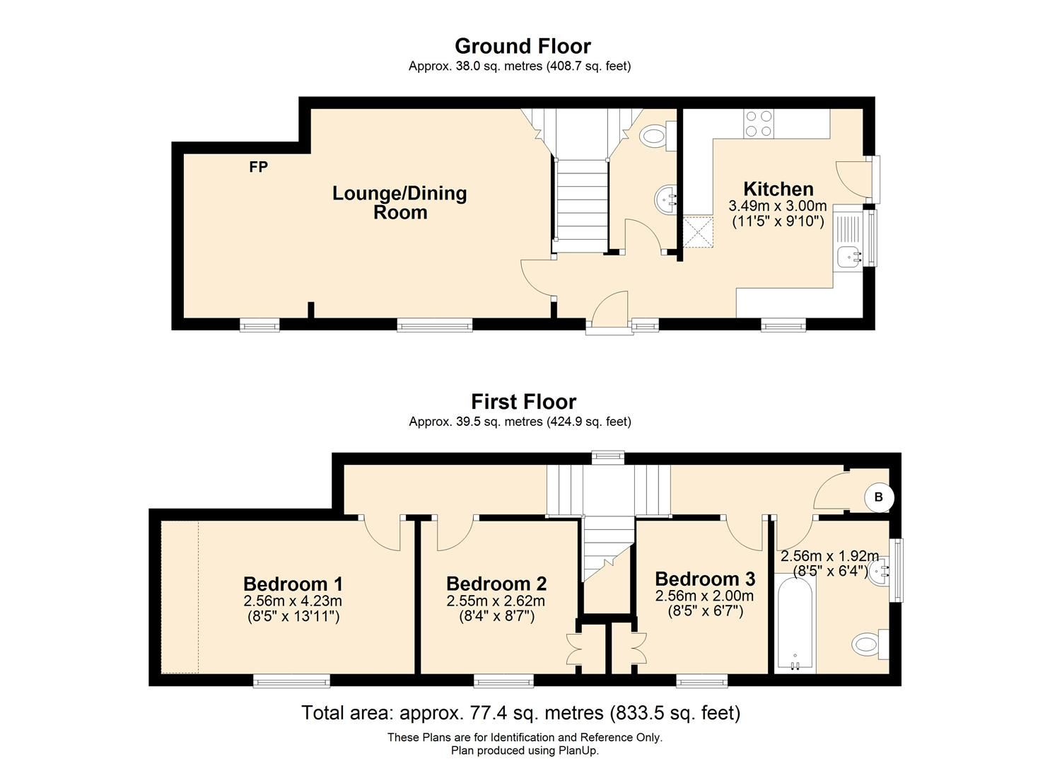 3 bed link detached house for sale in Whitecross - Property Floorplan
