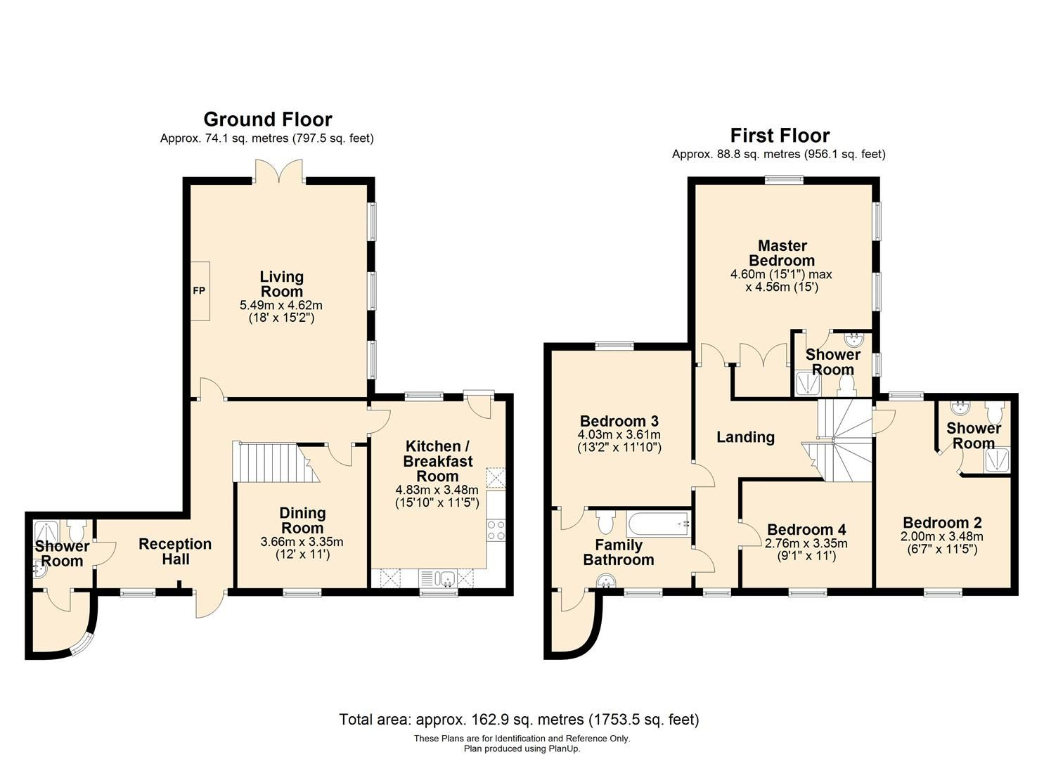 4 bed semi-detached for sale in Nr Madley - Property Floorplan