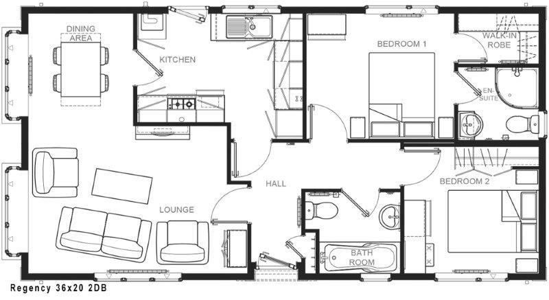 2 bed park-home for sale in Sourport Road - Property Floorplan