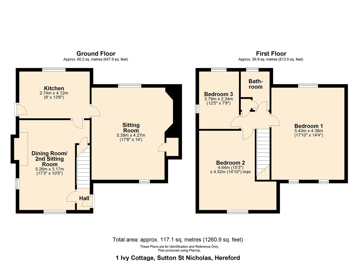 3 bed cottage for sale in Sutton St. Nicholas - Property Floorplan