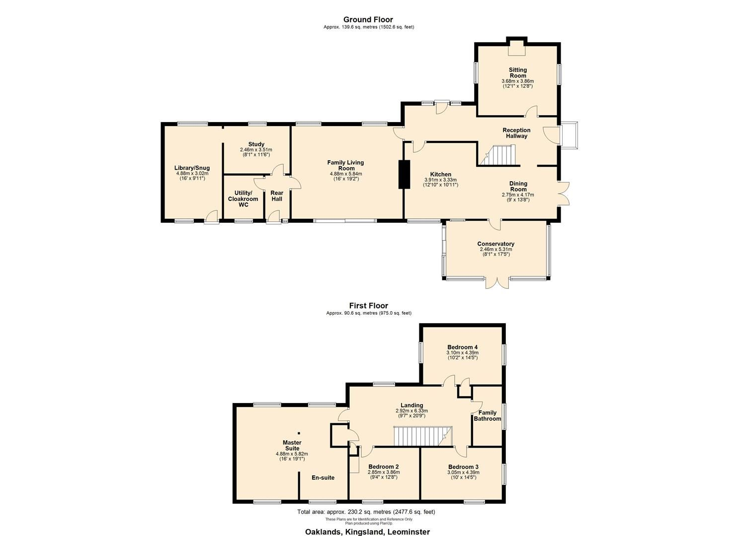 4 bed country house for sale in Kingsland - Property Floorplan