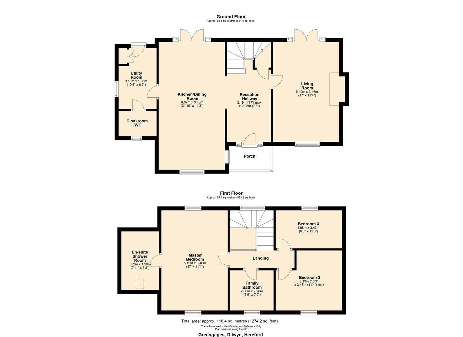 3 bed detached for sale in Dilwyn - Property Floorplan