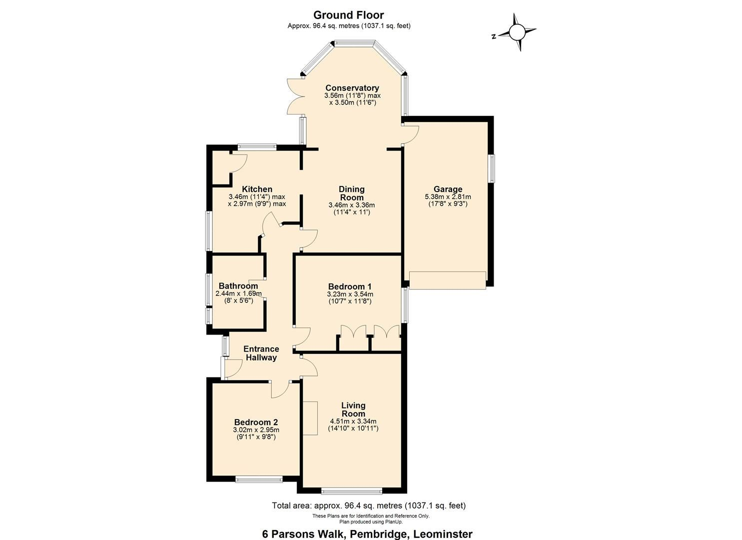 2 bed detached-bungalow for sale in Pembridge - Property Floorplan